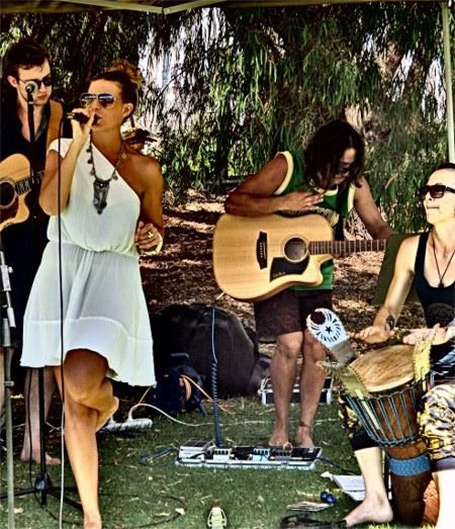 Chelsea Morgan and the Woven Soles Margaret River region band