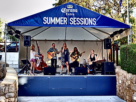 Chelsea Morgan and the Woven Soles at Caves House Hotel Summer Sessions