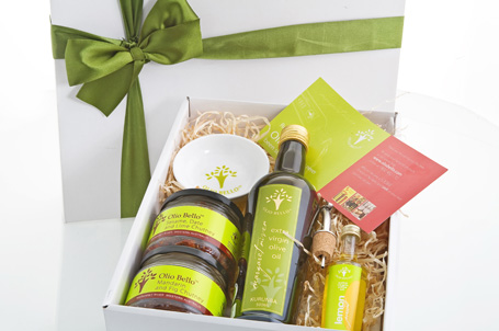 Olio Bello gift packages from their olive groves and hand made produce of the Margaret River region