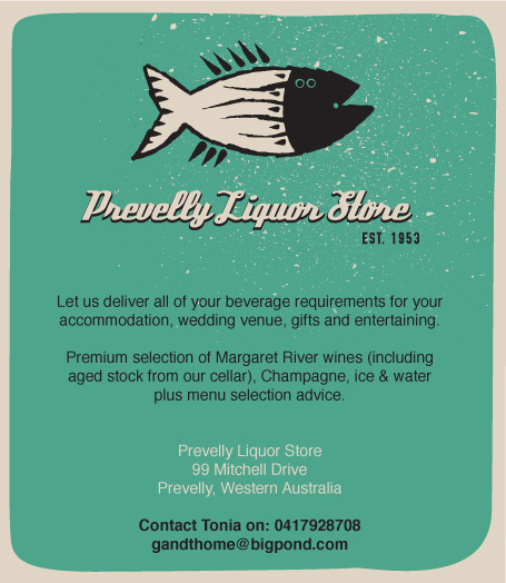 Prevelly Liquor Store wedding ceremony and reception wine spirit and beer Margaret River Dunsborough Yallingup Busselton