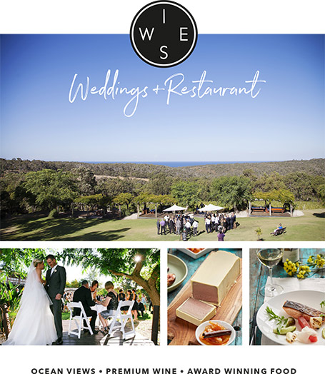 Wise Weddings & Restaurant Margaret River, Dunsborough, Busselton, Yallingup