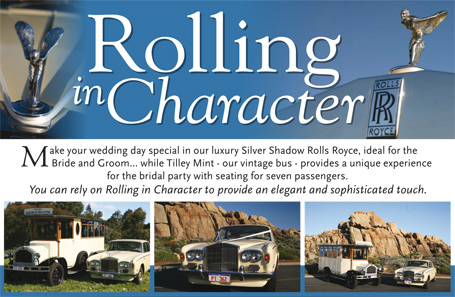 Rolling in Character weddings Margaret River Dunsborough Yallingup Busselton