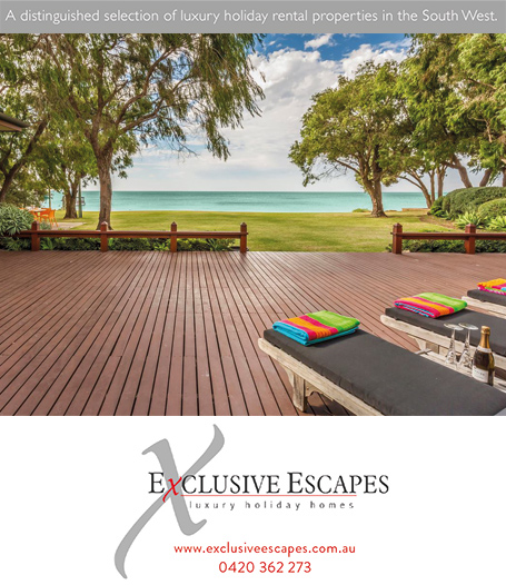 Exclusive Escapes holiday homes in Dunsborough, Margaret River, Yallingup, wedding accommodation