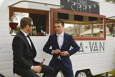 Billie Cart Bar-A-Van styled, celebration wedding bar for the Margaret River region, Dunsborough, Yallingup, Busselton, Augusta