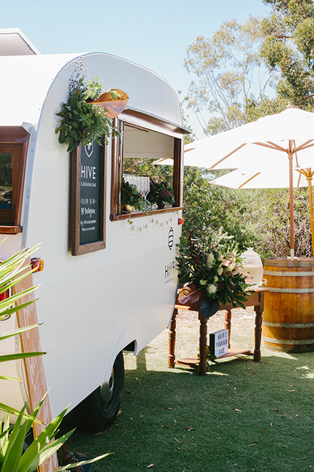 Hive Caravan Bar Margaret River region weddings