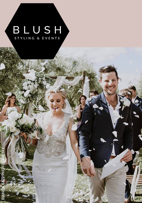 Blush Styling & Events weddings in the Margaret River region. Image by Bianca Kate Photography