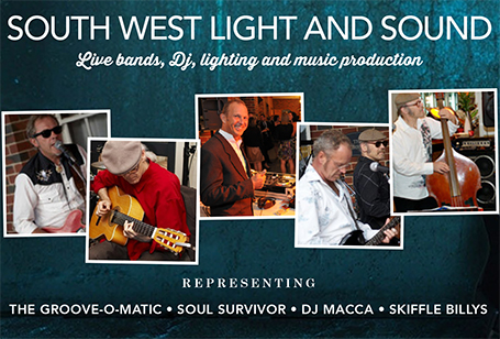 South West Light and Sound, hire and DJ equipment, lighting and systems.